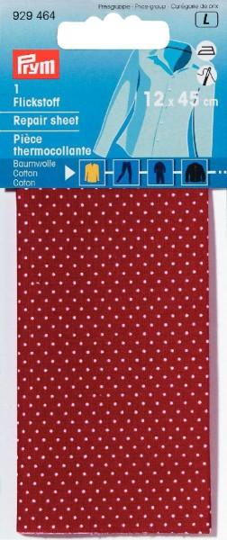 Prym Flickstoff Baumwolle rot/weiß gepunktet 12 x 45 cm