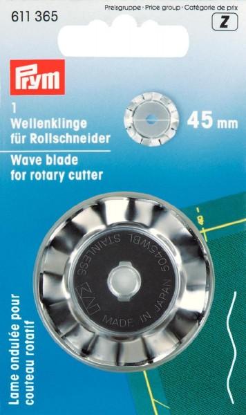 Prym Rollschneiderklinge Wellen 45 mm