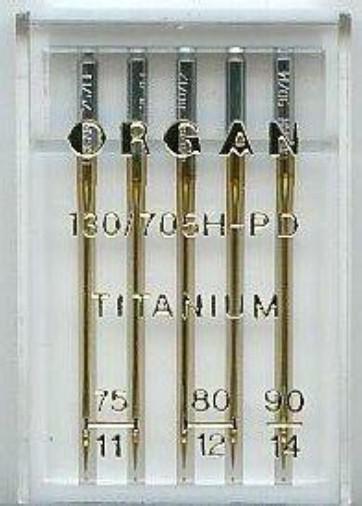 Maschinennadeln Organ 130/705 H-PD Titanium
