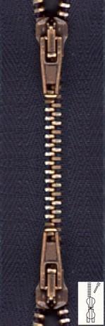 Reißverschluss Metall Zweiwege extra schmal teilbar 80 cm