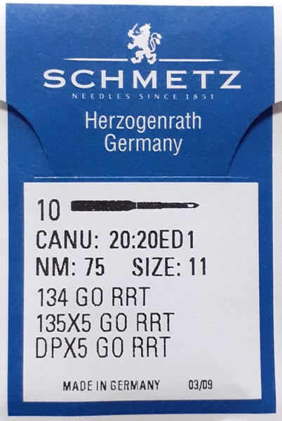 Maschinennadeln Schmetz 134 GO RRT