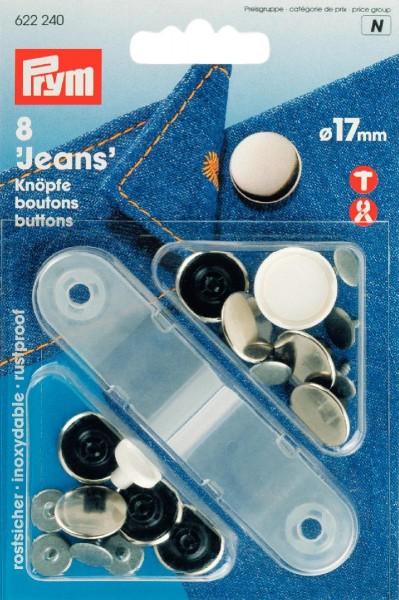 Prym Jeansknöpfe 17 mm, 8 Stück