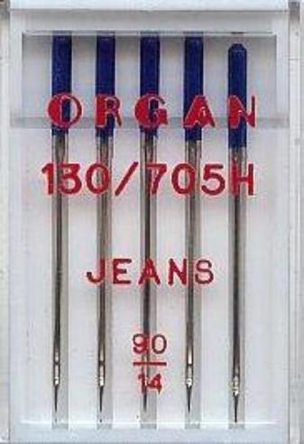 Maschinennadeln Organ 130/705 H Jeans