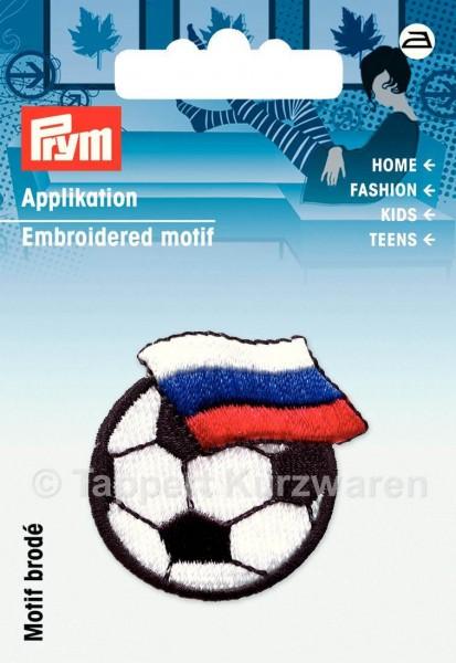 Prym Applikation Fussball mit Fahne Russland