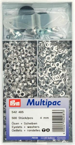 Prym Ösen mit Scheiben 4 mm, 500 Stück