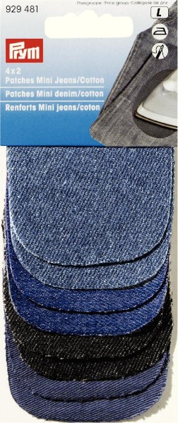 Prym Patches Jeans Mini 8 x 6 cm, 4 x 2 Stück