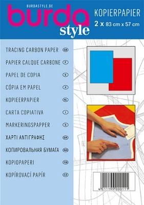 Burda Kopierpapier blau/rot, 2 Stück