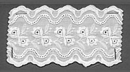 Baumwollspitze 70 mm, 8,5 m