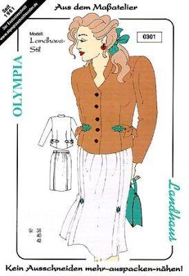 Olympia Schnittmuster Landhaus Kostüm