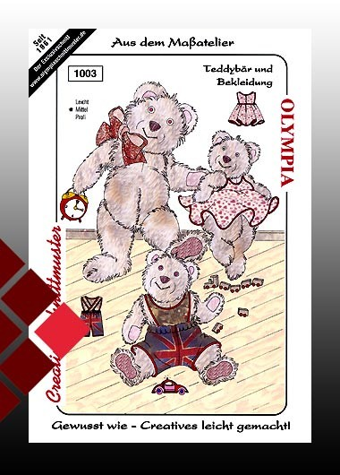 Olympia Schnittmuster Teddybär mit Bekleidung