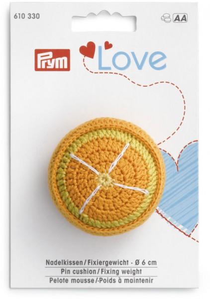 Prym Love Nadelkissen Orange mit Fixiergewicht