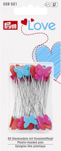 Prym Stecknadeln mit Kunststoffkopf Love, 50 Stück