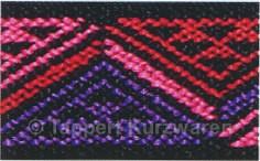 Prym Color-Elastic Dreiecke pink/rot/lila 25 mm, 7 m
