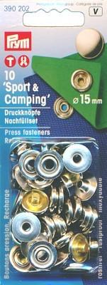 Prym Druckknöpfe Sport & Camping 15 mm, 10 Stück
