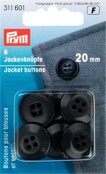 Prym Jackenknöpfe 20 mm, 8 Stück