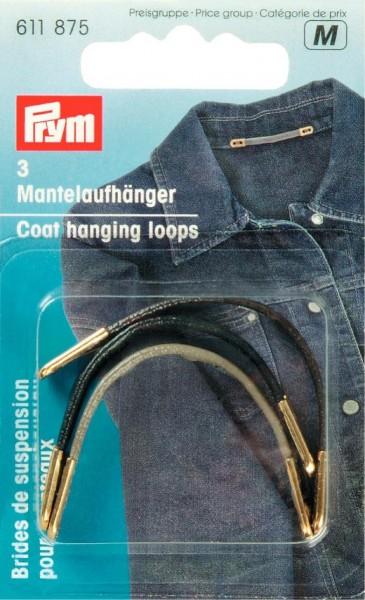 Prym Mantelaufhänger Kunstleder, 3 Stück