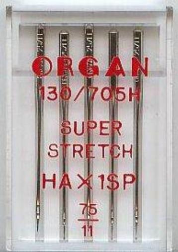 Maschinennadeln Organ 130/705 H Super Stretch
