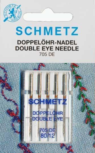 Maschinennadeln Schmetz 705 DE Doppelöhr
