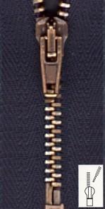 Reißverschluss Metall extra schmal teilbar 80 cm