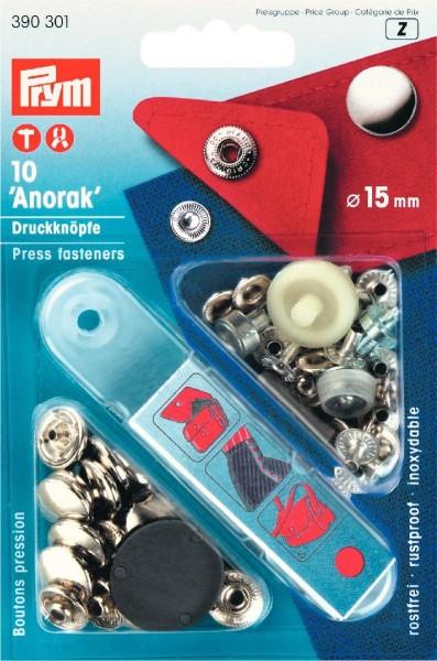 Prym Druckknöpfe Anorak 15 mm, 10 Stück