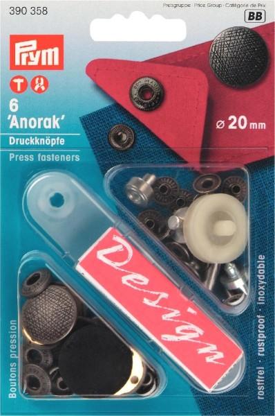 Prym Druckknöpfe Anorak Spirit 20 mm, 6 Stück