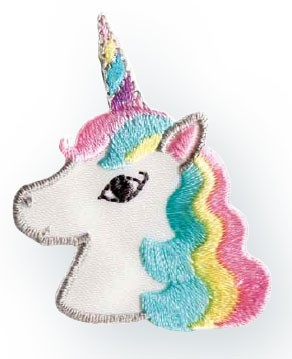 Prym Applikation Einhorn / Unicorn Kopf pastell