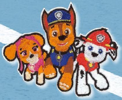 Applikation Paw Patrol Marshall + Chase + Skye