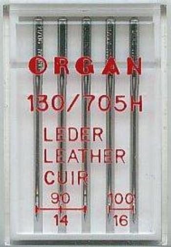 Maschinennadeln Organ 130/705 H Leder