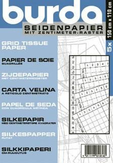 Burda Seidenpapier mit cm-Raster, 5 Stück