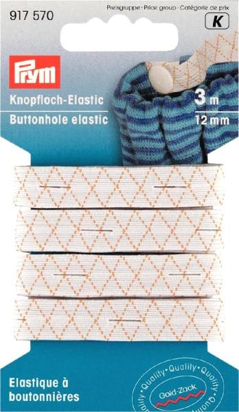 Prym Knopfloch-Elastic 12 mm, 3 m