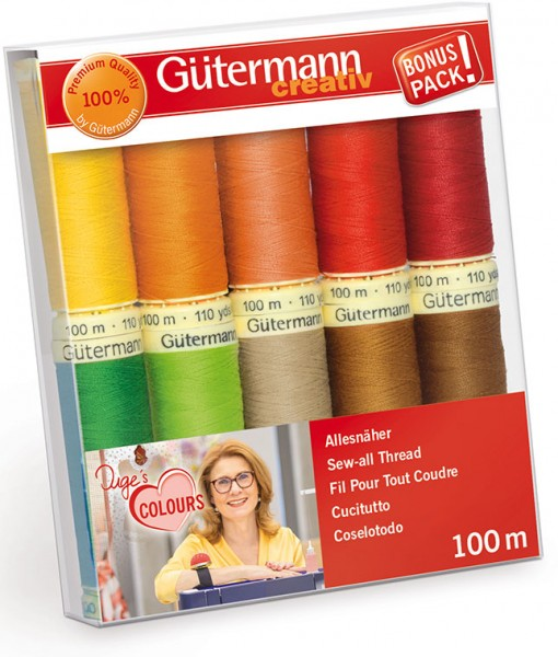 Gütermann Nähgarn-Set 10 x 100 m Inges Lieblingsfarben