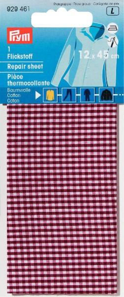 Prym Flickstoff Baumwolle rot/weiß kariert 12 x 45 cm