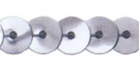 Prym Paillettenband silber 6 mm, 25 m