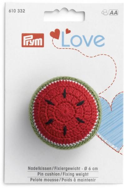 Prym Love Nadelkissen Melone mit Fixiergewicht