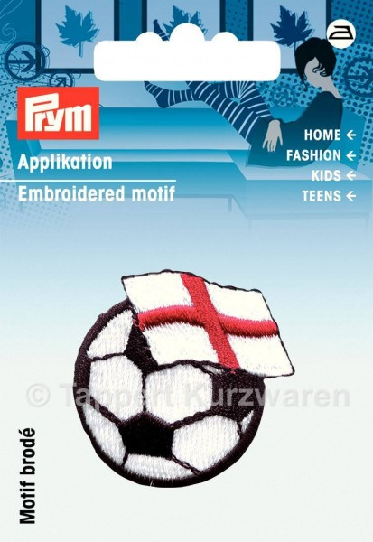 Prym Applikation Fussball mit Fahne England