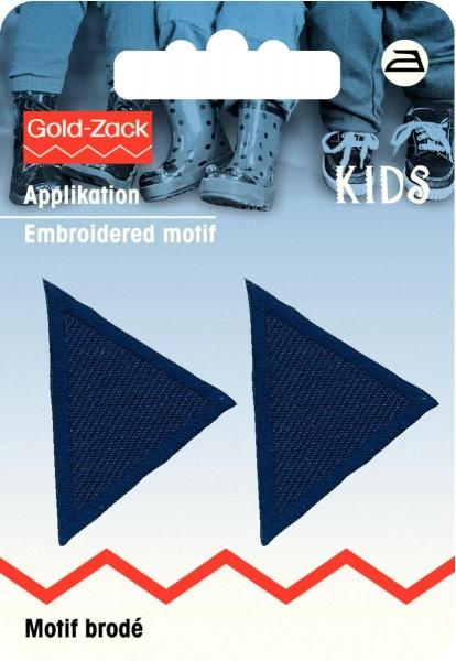 Prym Applikationen Dreiecke klein dunkelblau, 2 Stück