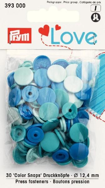Prym Love Color Snaps Rund, 30 Stück