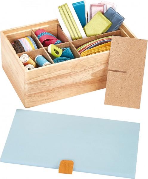 Prym Sortimentsbox Holz S blau
