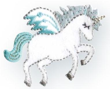 Prym Applikation Einhorn / Unicorn weiß/mint