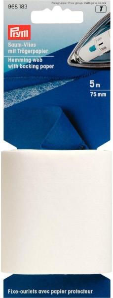 Prym Saum-Vlies mit Trägerpapier 75 mm, 5 m