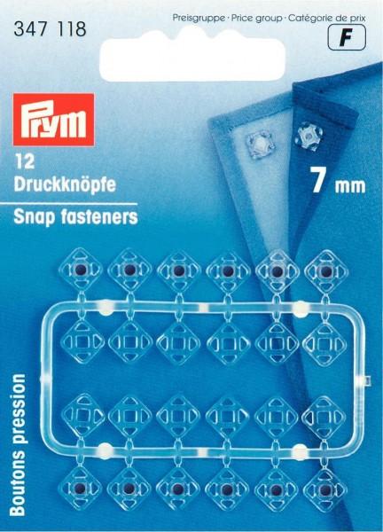 Prym Annähdruckknöpfe quadratisch 7 mm, 12 Stück
