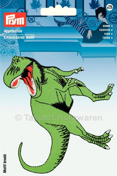 Prym Applikation Dinosaurier T-Rex grün