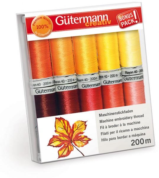 Gütermann Maschinenstickfaden-Set Sulky Rayon 40, 10 x 200 m
