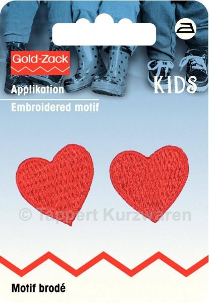 Prym Applikation Zwei Herzen rot