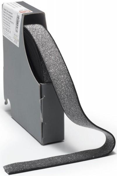 Prym Color-Elastic schwarz/silber 25 mm, 10 m