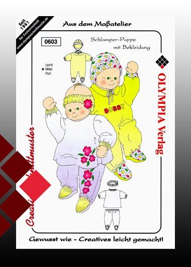 Olympia Schnittmuster Schlamper-Puppe mit Bekleidung