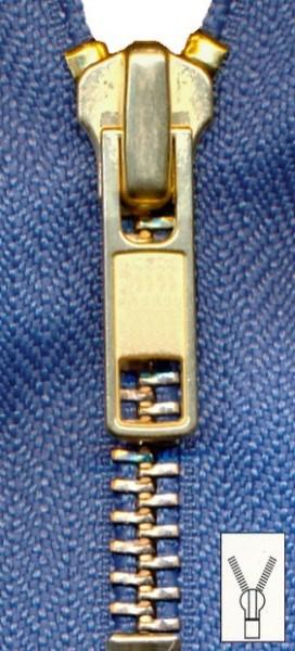 Reißverschluss Metall unteilbar 8 cm