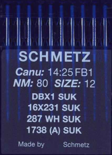 Maschinennadeln Schmetz 1738 SUK