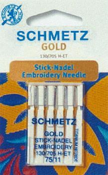 Maschinensticknadeln Schmetz 130/705 H-ET Embroidery Gold