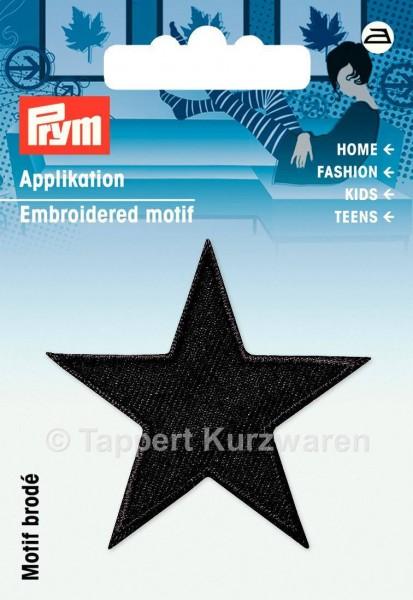 Prym Applikationen Sterne schwarz (2 Stück)